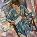 Femme en vert, lisant, Jules Pascin