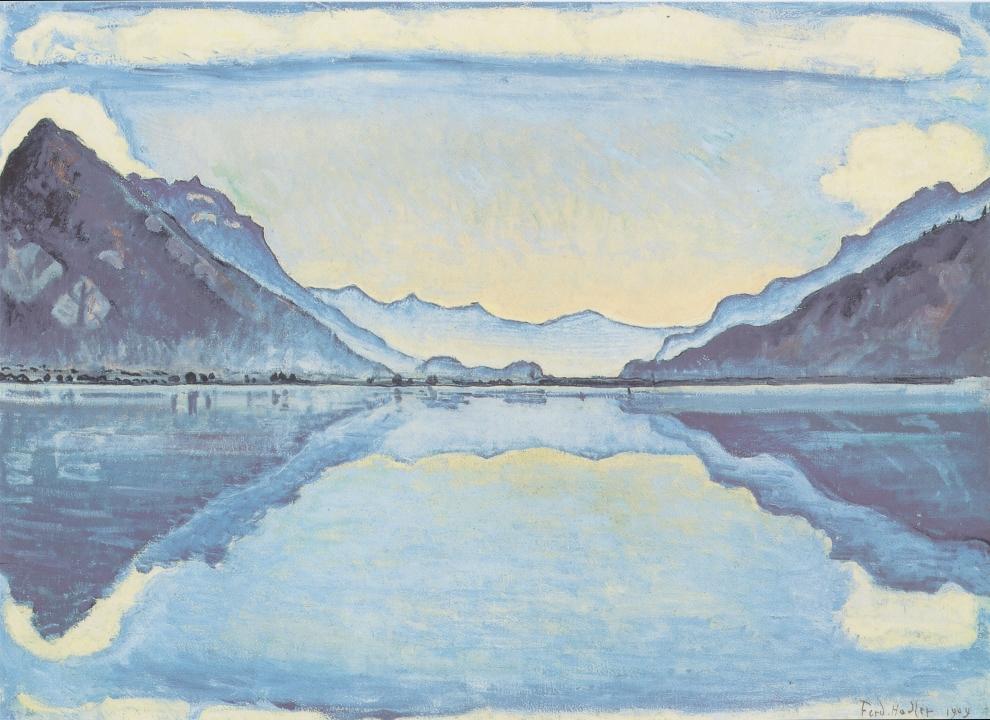 Le Lac de Thoune aux reflets symétriques,  Ferdinand Hodler
