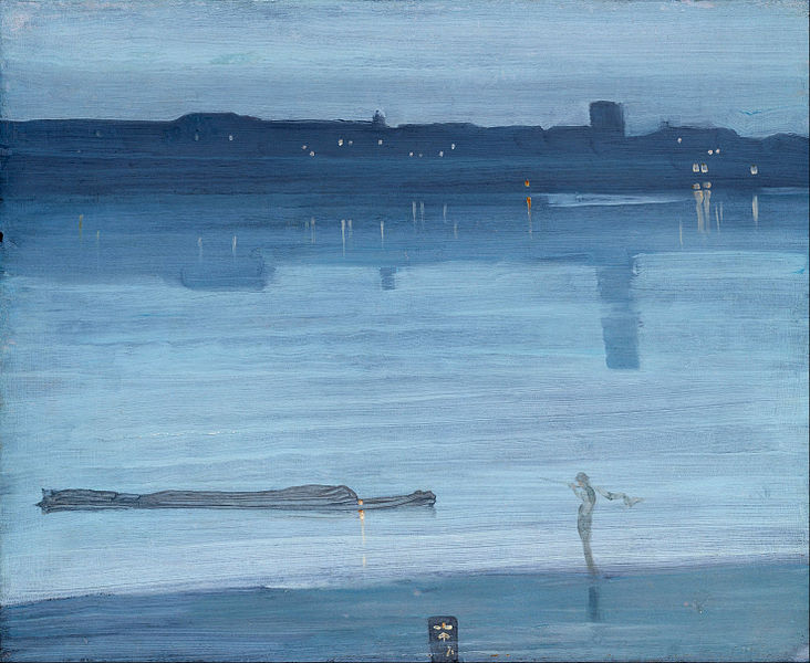Nocturne, bleu et argent, Chelsea, James Abbot McNeil Whistler