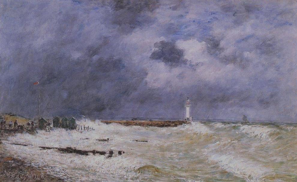 Coup de vent devant Frascati, 1896, Eugène Boudin