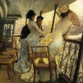 Le Pont-promenade sur le HMS Calcutta,1876, James Tissot, Tate Britain, Londres.