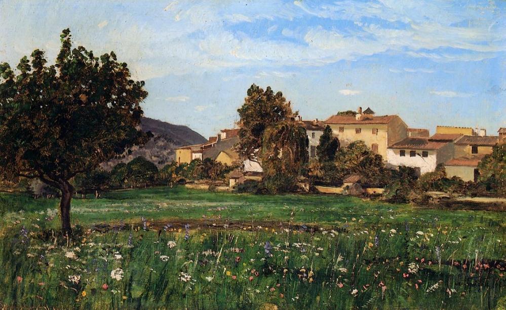Le Hameau de Lourmarin, 1868, Paul Guigou